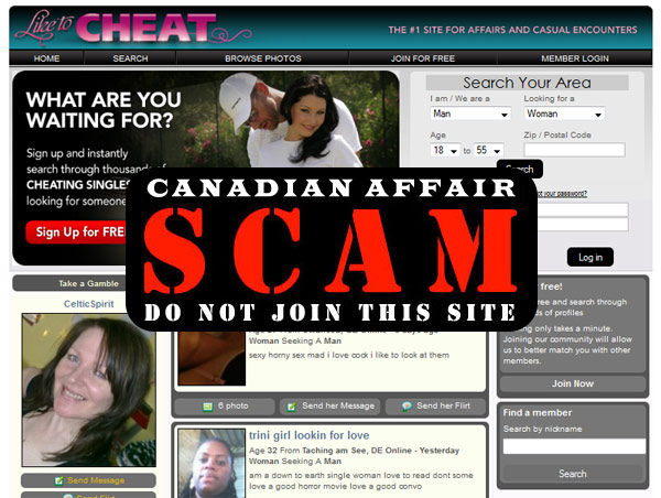 LikeToCheat - Dating Scam Alert