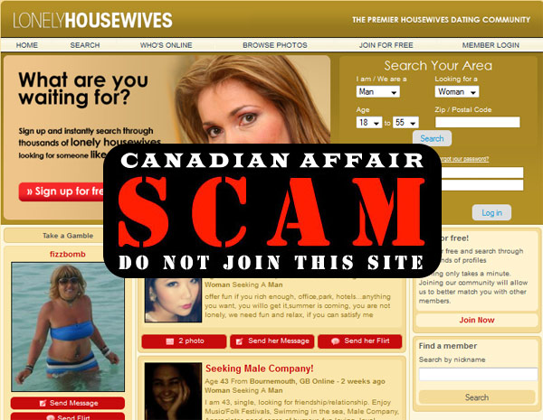 LonelyHousewives - Dating Scam Alert