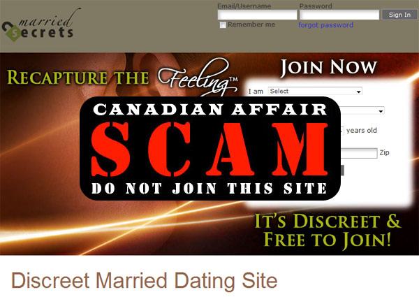 MarriedSecrets - Dating Scam Alert